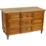 Continental neo classical walnut chest of drawers