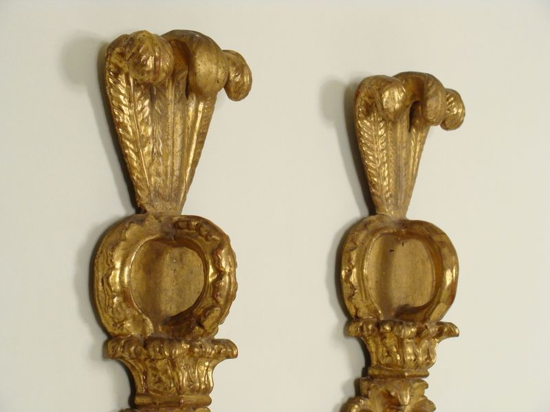 Pair of Italian baroque style wall sconces from nicholsonsantiques on Ruby Lane