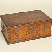 Continental  antique document box