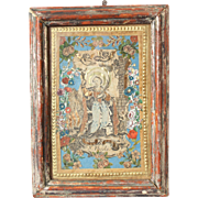 Antique decoupage