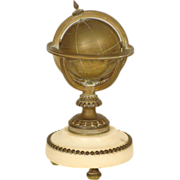 Bronze and marble globe