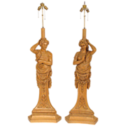 Pair of renaissance style lamps