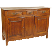 Louis XVI provincial oak buffet