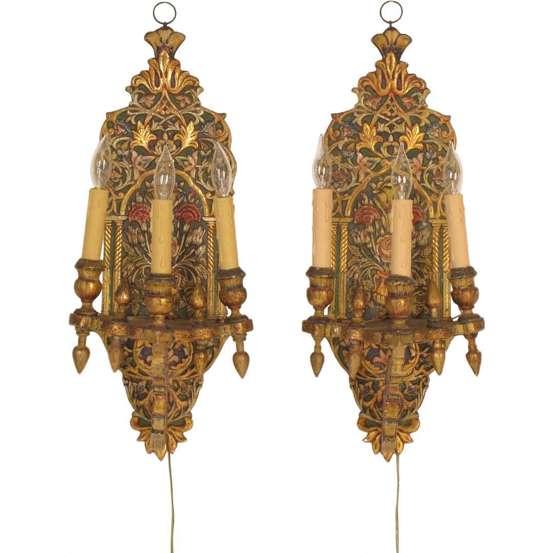 Moroccan Wall Sconces Lighting : Moroccan wall sconces from nicholsonsantiques on Ruby Lane