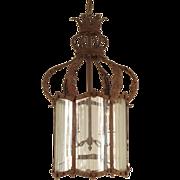 Baroque style iron lantern
