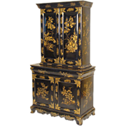 Napoleon III chinoiserie decorated cabinet.
