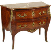 Louis XV style bombe chest of drawers