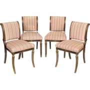 Set of 4 Hollywood regency side chairs