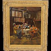 Tavern scene painting by Wilhelm Giessel