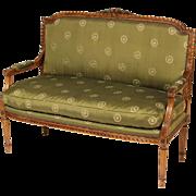 Louis XVI style settee