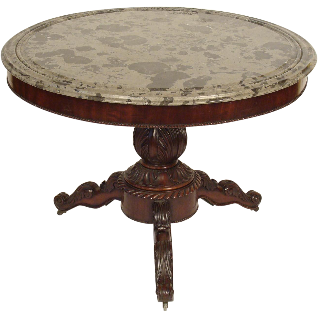 Louis philippe center table from nicholsonsantiques on for Table ronde louis philippe