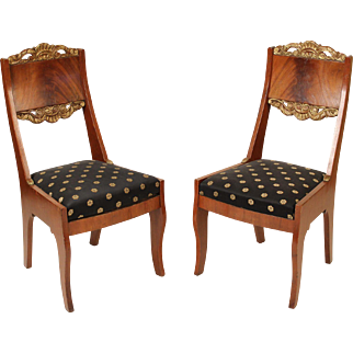 Pair of neo classical side chairs