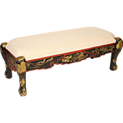 Chinese painted and gilt decorated bench