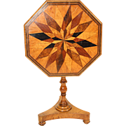 Continental inlaid tilt top table