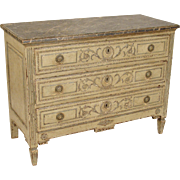 Louis XVI painted chest of drawers