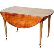 Directoire drop leaf dining table
