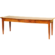 Directoire fruit wood farm table