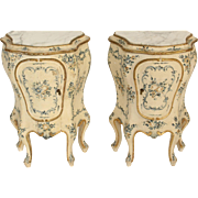 Pair of painted Italian commodinis