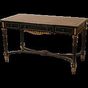 Louis XVI style leather top desk