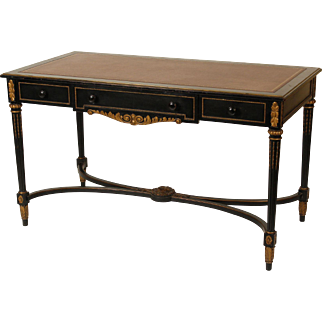 Louis XVI style leather top desk
