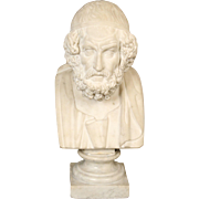 Marble bust of a greek poet