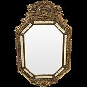 Napoleon III style gilt wood mirror