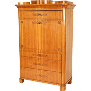 19th century Biedermeier fruit wood secretaire abattant