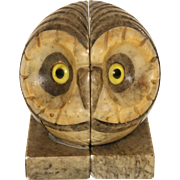 Pair of owl form bookends