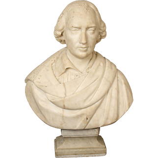 Large marble bust of a gentleman
