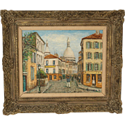 Alois Lecoque painting of Montmarte