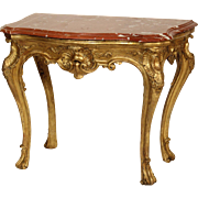 Louis XV gilt wood console table