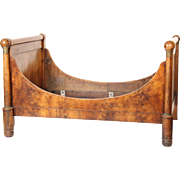 Empire bronze mounted mahogany bed