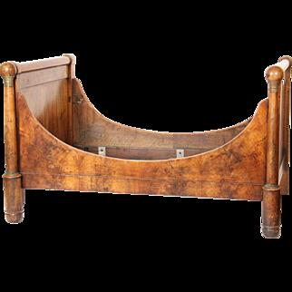 Empire bronze mounted mahogany bed