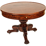 Neo classical mahogany center table