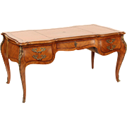 Louis XV style leather top desk