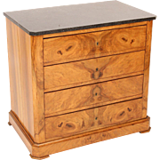 Neo classical burl walnut chest of drawers