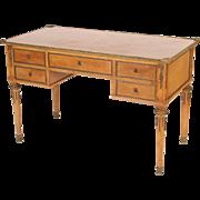 Louis XVI style bronze mounted desk.