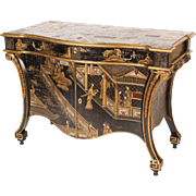 Georgian style chinoiserie decorated commode made by Baker