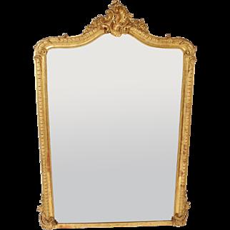 Louis XV style gilt wood mirror