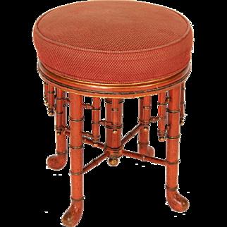 Napoleon III style faux bamboo stool