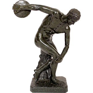 Classical male marble discus thrower