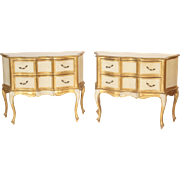 Pair of Louis XV style painted Italian commodes