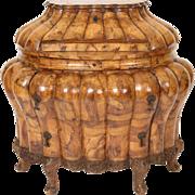 Italian Louis XV style bombe slant top desk