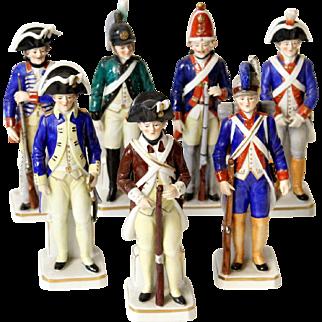 Sitzendorf porcelain soldiers