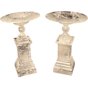 Pair of rock crystal tazzas