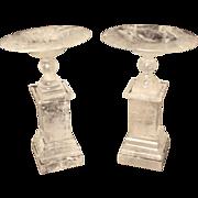 Pair of rock crystal tazzas