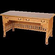 Aesthetic movement bamboo desk