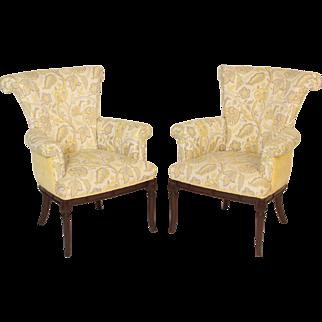 Pair of Hollywood regency armchairs