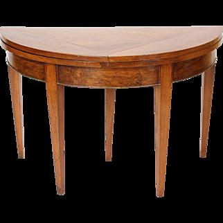 Directoire demi lune games table