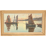 Robert Henri Fougues painting with sailboats